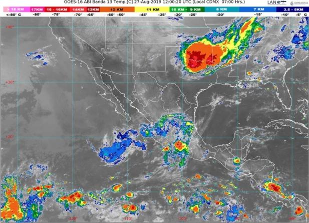 Pronostica Conagua lluvias intensas con descargas eléctricas en Sinaloa y Nayarit
