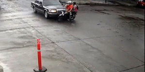 Reportan fuera de peligro a familia motociclista atropellada