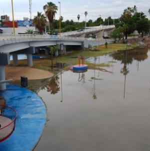 Sin acceso al público   Por inundaciones restringen entrada a Parque Acuático de Culiacán