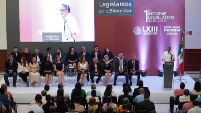 Presume Morena 'golpe' a Quirino en informe de labores legislativas