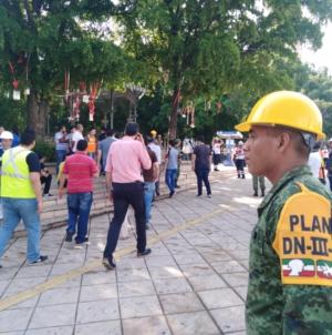 Realizan simulacro de evacuación por el Día Nacional de la Protección Civil