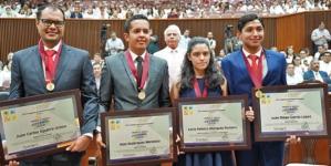 Entrega Congreso del Estado PMJ 2019 a cuatro galardonados