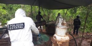 Van 42 en el año | Aseguran 4 narcolaboratorios en cercanías de la Presa Sanalona