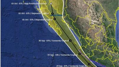 Se forma ciclón trópical potencial 16-E en el pacífico; podría generar lluvias en Sinaloa