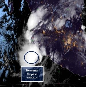 """Protección Civil recomienda estar atentos a Tormenta Tropical """"Priscilla"""""""