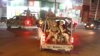 Realizan recorridos 230 elementos militares que arribaron este viernes a Culiacán