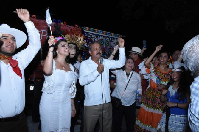 """""""Culiacán y México están en paz"""", asegura alcalde en Callejoneada Blanca"""