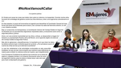 #NoNosVamosACallar responde ciudadanía a funcionarias de protección a las mujeres
