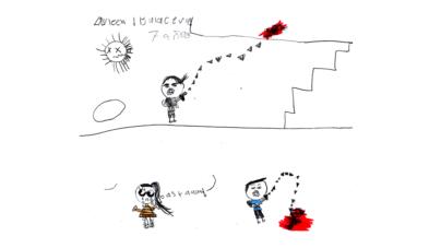 Una mirada infantil | Niños culiacanenses dibujan lo ocurrido el Jueves Negro