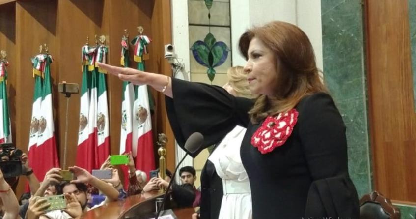 Gloria Himelda Félix, del PRI, es presidenta de la mesa directiva del Congreso de Sinaloa