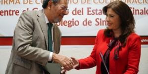 Firman Convenio de Colaboración Congreso del Estado y Colegio de Sinaloa