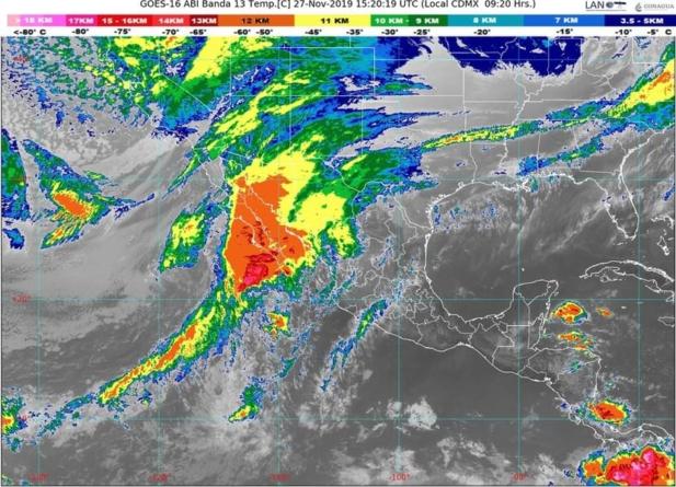 Lluvia intensa, alto oleaje y fuertes vientos, el pronóstico el tiempo para Sinaloa