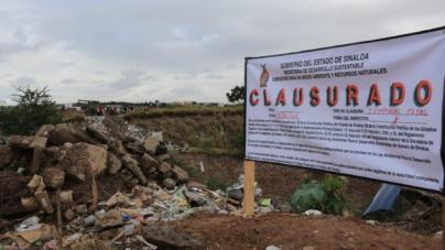 Clausuran basurón clandestino en Piggy Back; propietarios deberán pagar 845 mil pesos