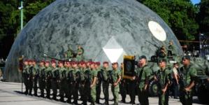 """Arranca exposición militar """"La Gran Fuerza de México"""" en explanada de Palacio de Gobierno"""