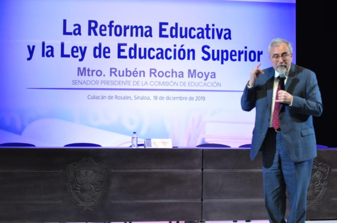 Rocha exigía acabar con cacicazgo político en la UAS; hoy pide que no digan cosas feas
