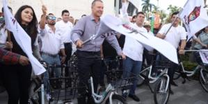 'Muévete Chilo' en Los Mochis   Estrenan programa de bicis públicas, serán gratis hasta fin de año
