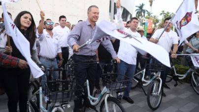 'Muévete Chilo' en Los Mochis | Estrenan programa de bicis públicas, serán gratis hasta fin de año