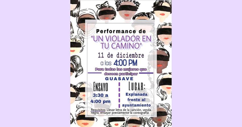 Se suma Guasave   Replicarán performance «Un Violador en tu Camino» frente a Ayuntamiento