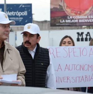 Con todo y Rector | Trabajadores de la UAS se manifiestan en las calles ante la falta de pago