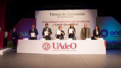 Firma UAdeO convenio con Canal Once del IPN