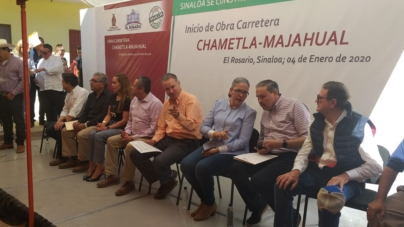 La política | Da inicio Quirino a obra carretera en Chametla, pueblo de presidenta de la Jucopo