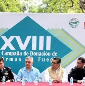 Arranca Campaña Permanente de Donación de Armas de Fuego en Culiacán