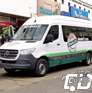 Camioneros prueban con unidad tipo sprinter en Culiacán