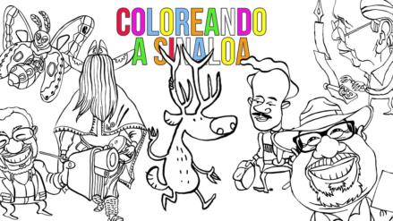 Coloreando Sinaloa   Lanza Ito Contreras libro de colorear digital para quedarse en casa