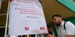 Consulta Popular | 98% de votantes avalan la creación del municipio Juan José Ríos