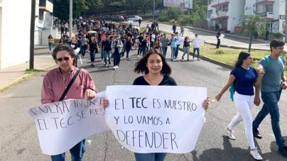 Con marcha, Tec de Culiacán pide a Gobierno intervenir por terrenos en riesgo