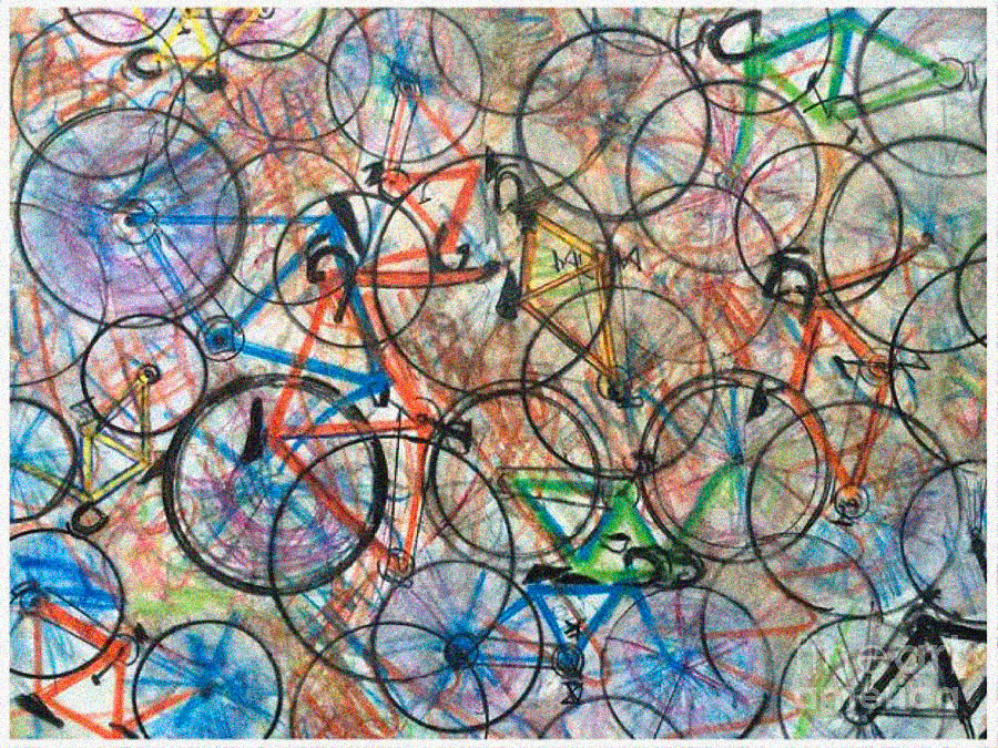 PINTURA: I want to ride my bicycle Bicycle. Scott French (2014).