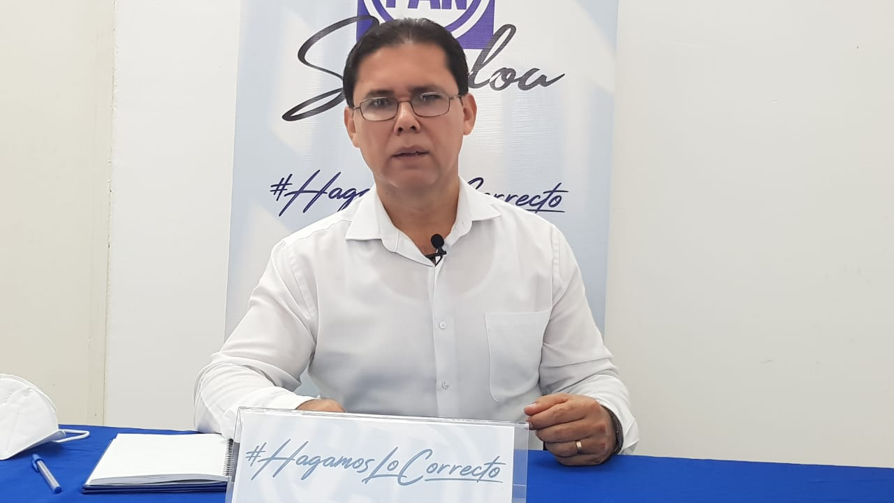 Juan Carlos Estrada Vega, presidente del PAN en Sinaloa.