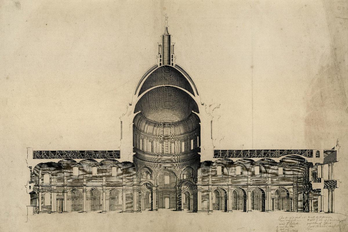 Dibujo: Christopher Wren / Catedral de San Pablo.