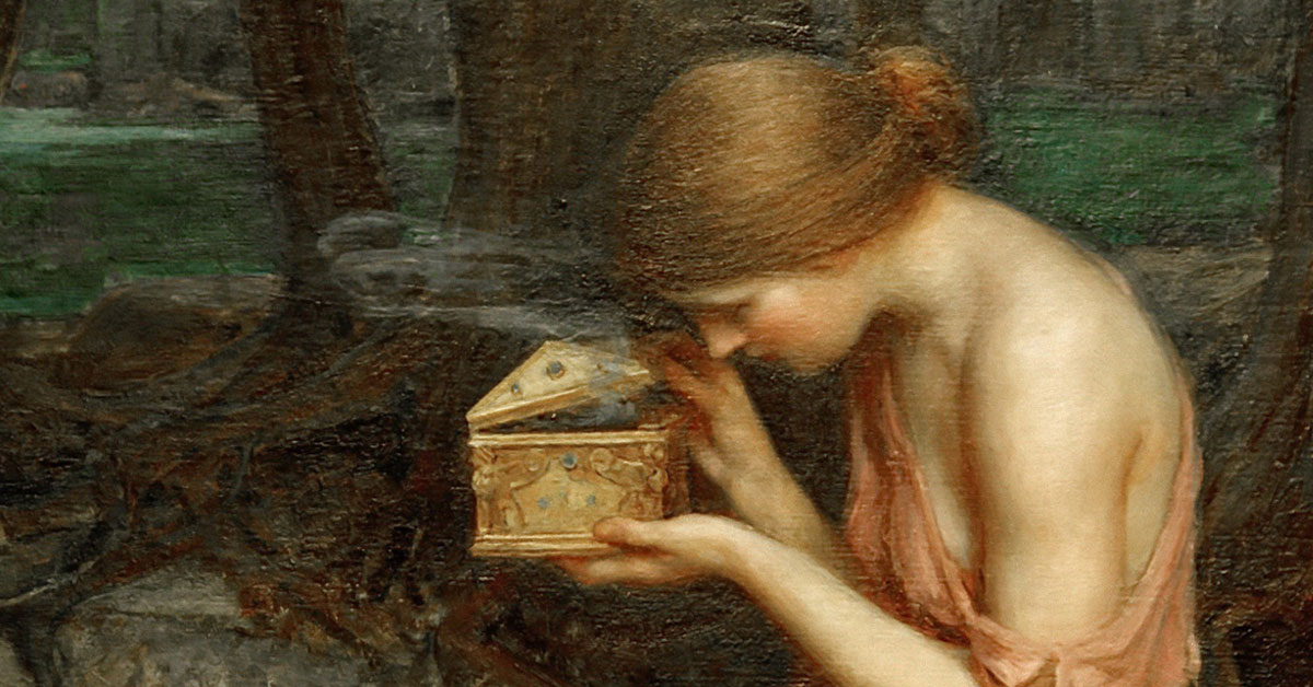 "PINTURA: Detalle de ""Psique abriendo la caja de oro"", John William Waterhouse."