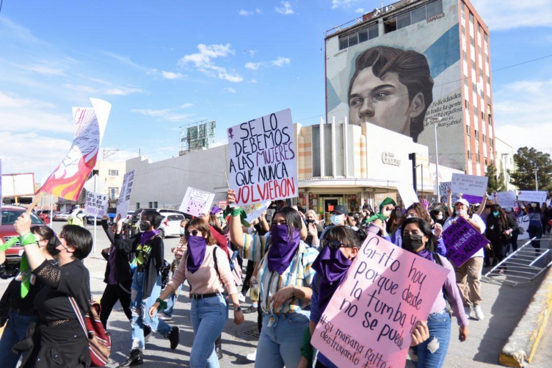 MARCHA DEL 8M 2021 EN CIUDAD JUÁREZ. FOTOGRAFÍA: REY R. JAUREGUI - ARCHIVO / LA VERDAD