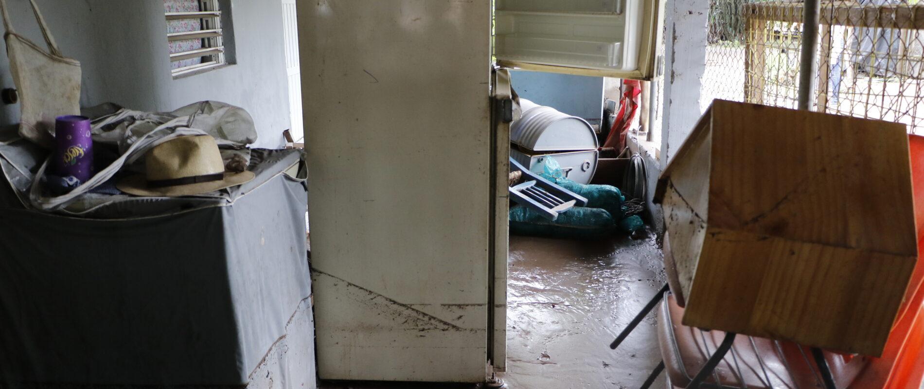 Vivienda que sufrió los estragos del paso del huracán Nora. FOTO: Marcos Vizcarra