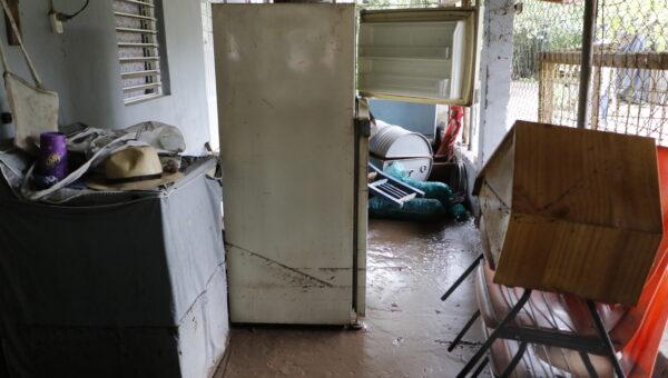 Estragos de la inundación en Jacola por el huracán Nora
