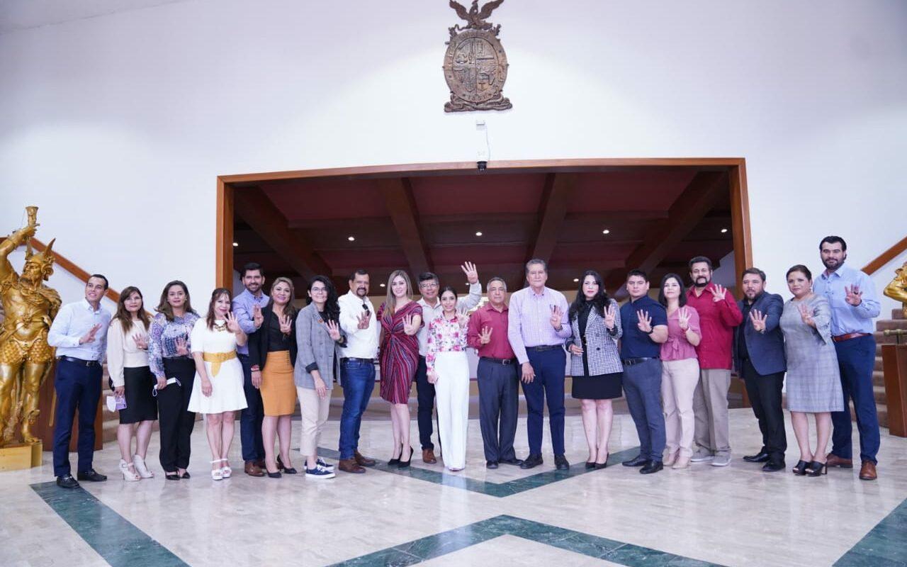 Los nuevos diputados de Morena en la 64 Legislatura.  FOTO: Congreso de Sinaloa.