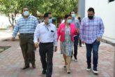 El rector de la UAS, Jesús Madueña Molina, recorre Ciudad Universitaria para realizar un diagnóstico sobre el estado de las instalaciones de la UAS. FOTO: Cortesía / UAS.