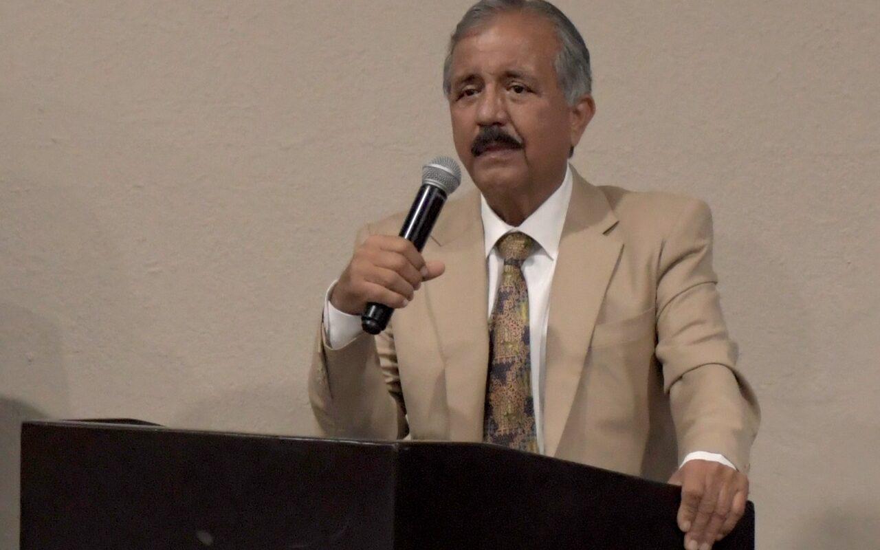 Jesús Estrada Ferreiro durante evento con la Canaco Culiacán. FOTO: Cortesía.