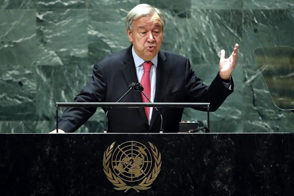 Una catarata de crisis pone al mundo al borde del abismo, solo a través del multilateralismo podemos salvarnos, afirma Guterres. FOTO: Captura de pantalla / ONU