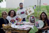 """Colectivo """"Bordadoras de Corazón"""". Foto: Josué David Piña."""